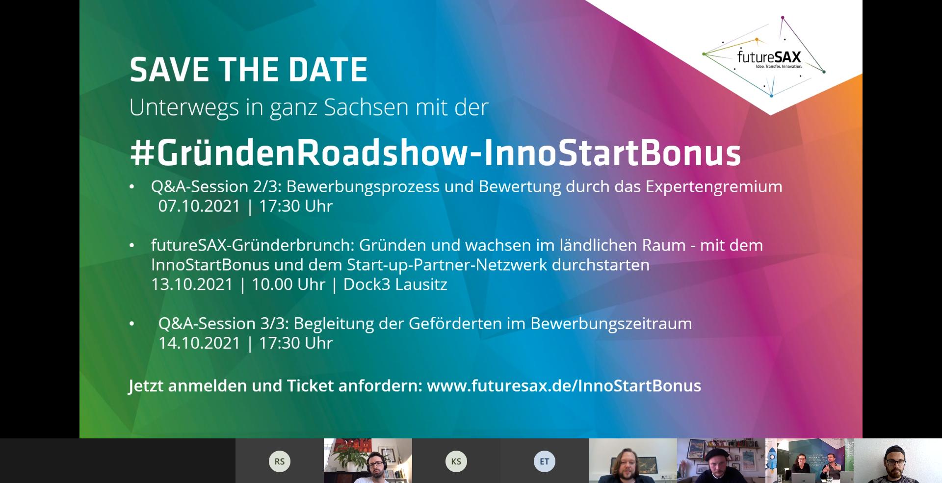 SMILE bei Roadshow-Event des InnoStartBonus von futureSAX